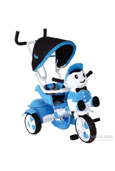 Babyhope 125 Yupi Panda Üç Tekerlekli Bisiklet / Mavi