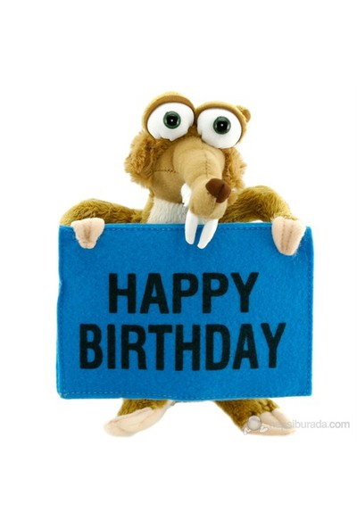 Ice Age Scrat Happy Birthday Peluş Oyuncak 22 Cm