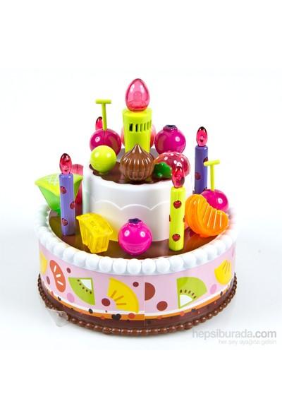 New Modern Doğum Günü Pastası, Işıklı Sesli Aksesuarlı