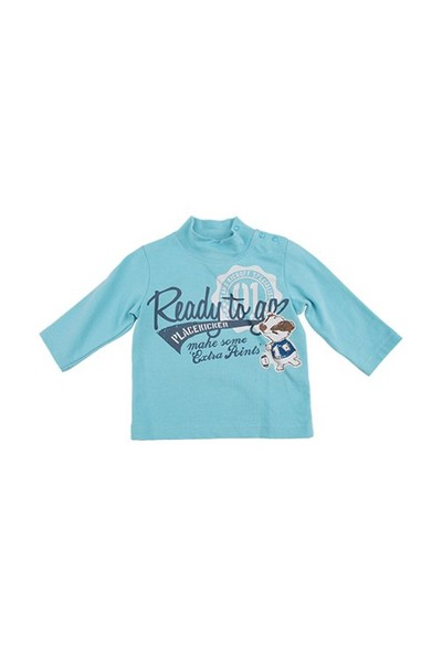 Zeyland Erkek Çocuk Mavi S-Shirt K-52M1agm66