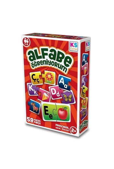 Ks Games Çocuk Alfabe Öğreniyorum 58 Parça Puzzle