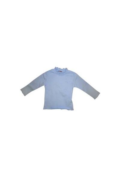 Zeylandkız Çocuk Acik Mavi T.Shirt U.K.Firfirli Balikci K-32