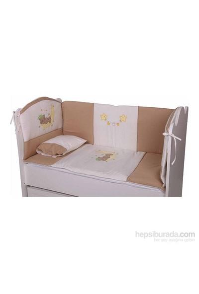 Babyhope Bebek Uyku Seti - Ayüstünde Ayı Kahverengi 70*130