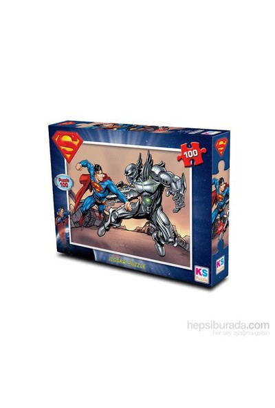 Warner Bros Superman- Puzzle (Yapboz) 100 Parça