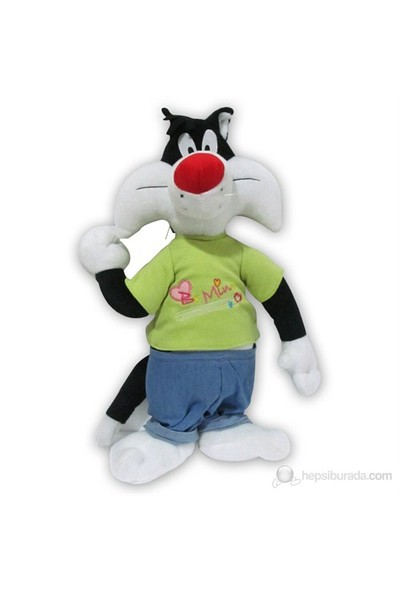 Looney Tunes Sylvester 47 cm. T-Shirtlü Pantolonlu Peluş