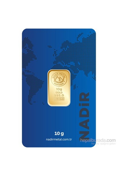 Nadir Gold 24 Ayar Külçe Gram Altın 10 Gr. - Aynı Gün Kargo