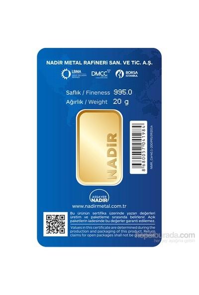 Nadir Gold 24 Ayar Külçe Gram Altın 20 Gr. - Aynı Gün Kargo