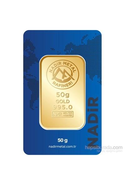 Nadir Gold 24 Ayar Külçe Gram Altın 50 Gr. - Aynı Gün Kargo