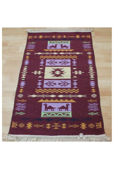 Jüt Tekstil Wonderwool Antik Yün Kilim 2019 80X120cm