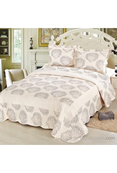 Cotton House Home Collection Nubuk Motta Çift Kişilik Yatak Örtüsü - Siyah