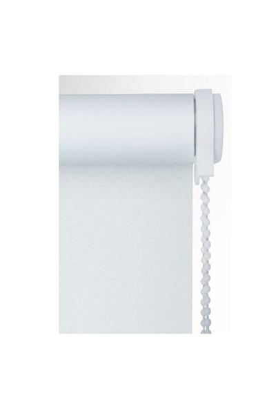 Brillant Etek Dilimli Beyaz Stor Perde 70X200