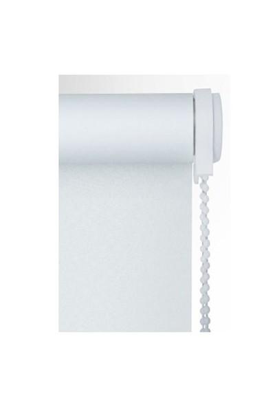 Brillant Etek Dilimli Beyaz Stor Perde 80X200 cm
