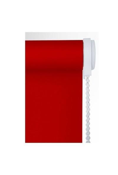 Brillant Etek Dilimli Kırmızı Stor Perde 50X200