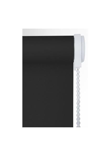 Brillant Etek Dilimli Siyah Stor Perde 50X200