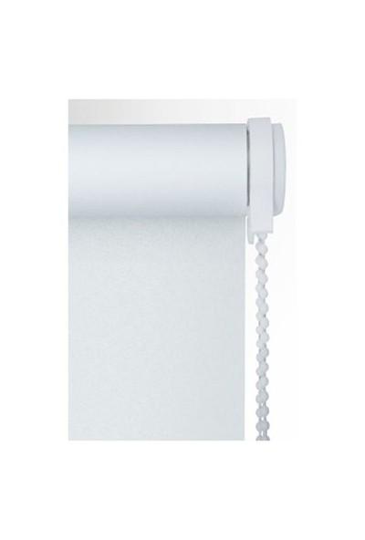 Brillant Etek Dilimli İthal Kalın Kumaş Beyaz Stor Perde 220X200 cm