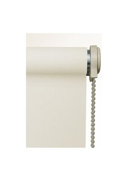 Brillant Etek Dilimli Ekru (Kırık Beyaz) Stor Perde 210X200 cm