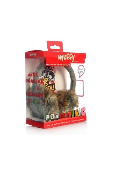 Codegen Muffy MF-012 Mikrofonlu GRİ PELUŞ Kulaklık