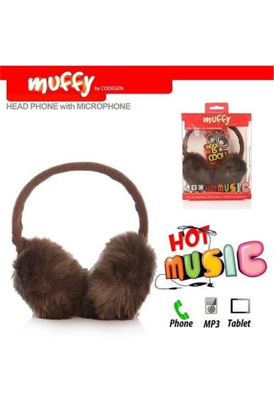 Codegen Muffy MF-019 Mikrofonlu KAHVERENGİ PELUŞ Kulaklık