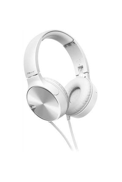 Pioneer SE-MJ722T-W Kafa Bantlı Mikrofonlu Kulaklık