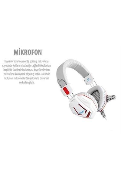 Rampage Sn-R4 Oyuncu Beyaz Mikrofonlu Kulaklık