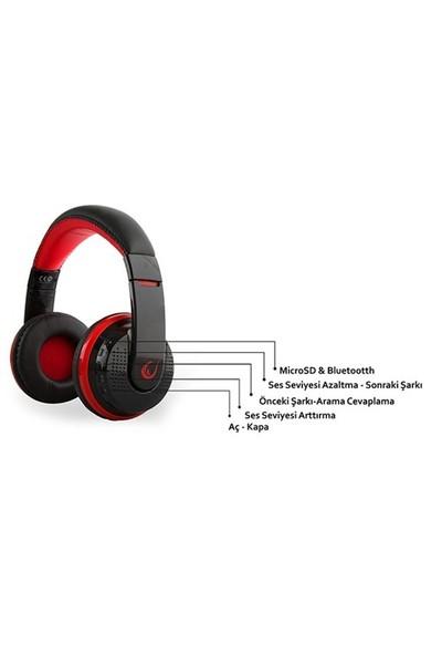Rampage SN-RBT7 Oyuncu Kırmızı Bluetooth Kulaklık