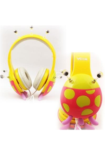 Vcom De802 Sarı Baş Üstü Kulaklık