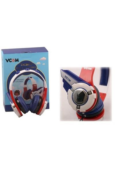 Vcom De803 Mavi Baş Üstü Kulaklık
