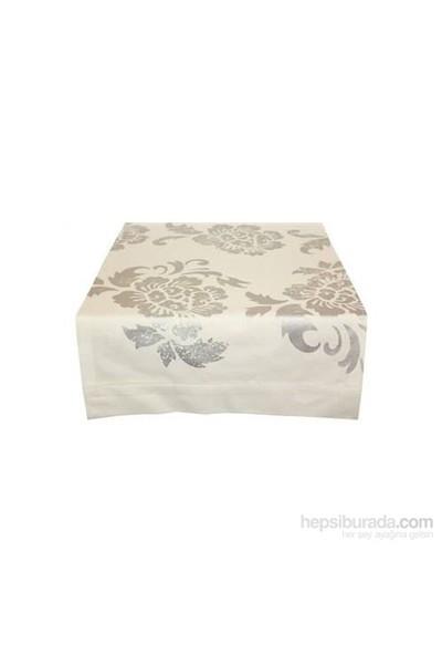 Yastıkminder Koton Beyaz Çiçek Baskılı Runner