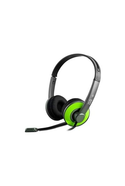 Snopy Sn-205 Yeşil Mikrofonlu Kulaklık
