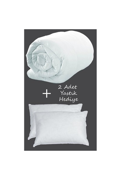 İyi Geceler İstanbul Çift Kişilik Microfiber Yorgan + 2 Adet Slikon Yastık Hediyeli