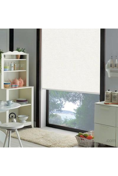Taç Polyester Işık Geçirmez Blackout Karartma Stor Perde Beyaz 60X200 Beyaz
