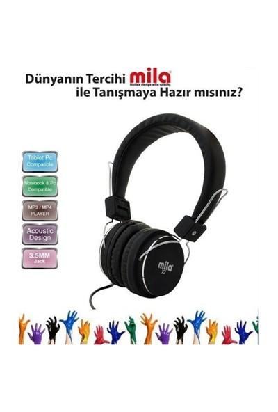 Mila Ml-X7-Black Mıla X7 Serisi Universal Telefon & Tablet & Pc Uyumlu Kulaklık Siyah Mikrofon