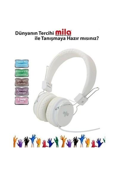 Mila Ml-X7-Whıte Mıla X7 Serisi Universal Telefon Uyumlu Ve Kulaklık Mikrofonlu Beyaz Renk