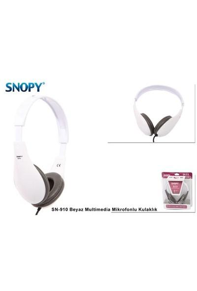 Snopy Sn-910 Beyaz Multimedia Mikrofonlu Kulaklık