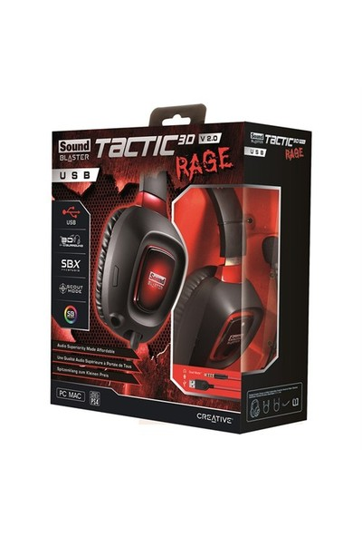 Creative Headset Sb Tactic 3D Rage Usb Gamer V2
