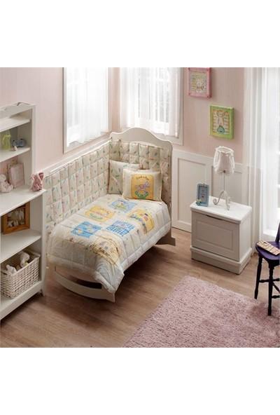 Taç Ranforce Bebek Uyku Seti - Baby Game Sarı