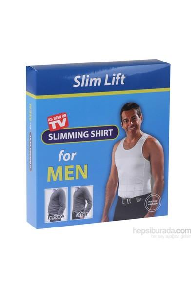 Slim Lift Atlet Tipi Dikişsiz Göbek Korsesi - Erkek Korse (Beyaz)