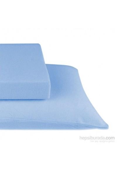 Elegans Fitted Havlu Çarşaf Tek Kişilik Mavi