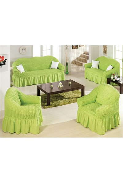 Karçiçeği Yakut Maksi Bürümcük Oturma Grubu - Yeşil