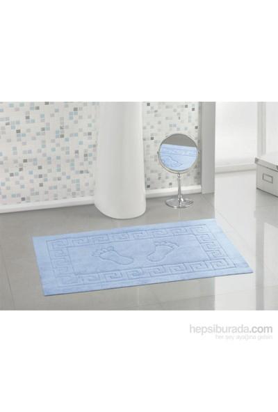 Varol Kaymaz Taban Banyo Paspası - Buz Mavisi