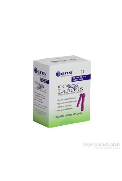 Ens Microlance Lancets 100 Adet Lanset Yaygın Lans