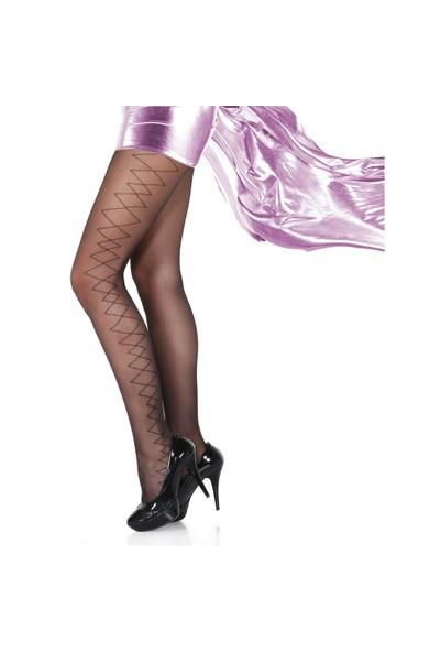 Pierre Cardin Estelle 15 Denye Likralı Desenli Külotlu Çorap