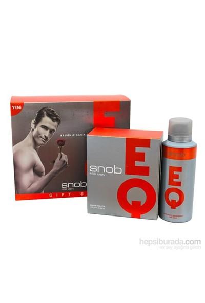 Snob Parfüm Seti Eq Edt 100Ml + 150Ml Deodorant Erkek