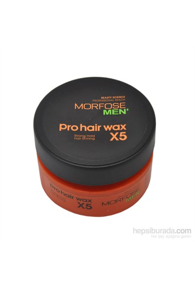 Morfose Men Pro Hair Wax Strong Hold (Turuncu) 150 gr