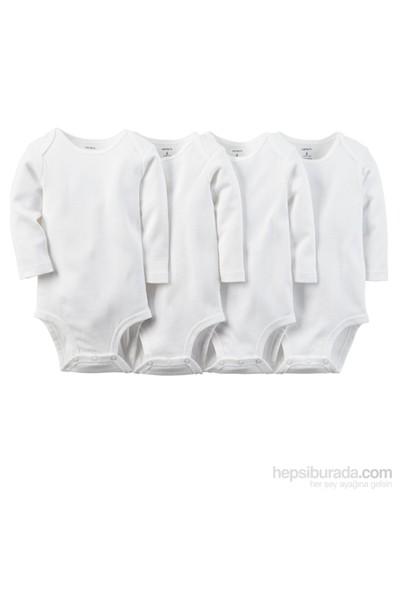 Carter's Bebek 4'Lü Beyaz Body-Ls 111A567