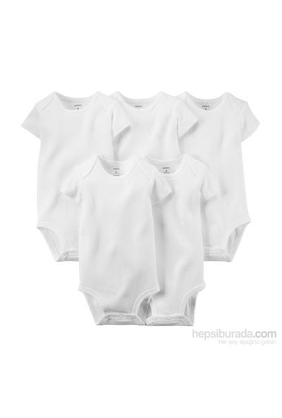 Carter's Bebek 5'Li Beyaz Body-Ss 111A566