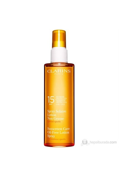 Clarins Sunscreen Care Oil Free Lotion Spray Spf 15 150 Ml
