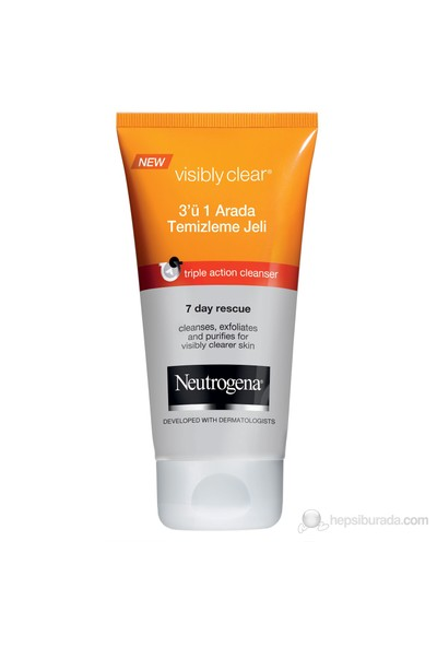 Neutrogena Visibly Clear 3 In 1 Temizleme Jeli 100 Ml