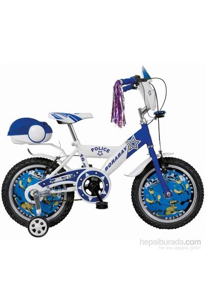 """Borabay Polis 16"""" Vitessiz Çocuk Bisikleti 2014 Mavi"""
