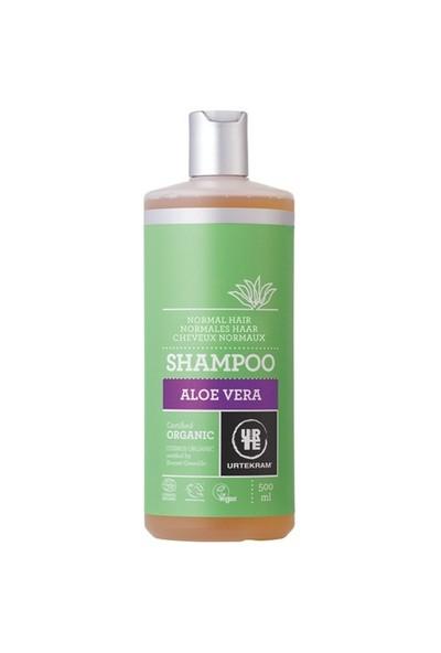 Urtekram Organik Aloe Vera Şampuan - Canlılık ve Işıltı - normal saçlar ekonomik boy 500 ml.